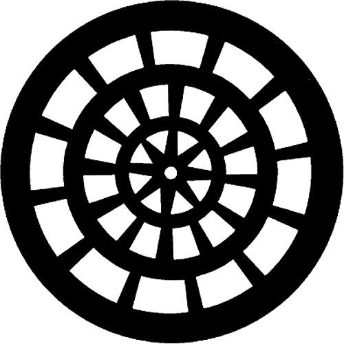 Rosco Steel Gobo #7758 - Rose Window - Size B