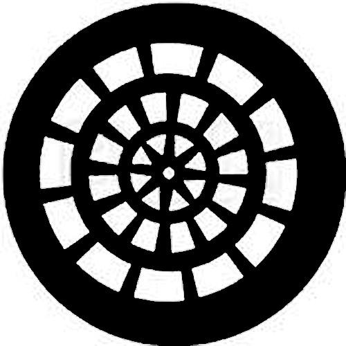 Rosco Standard Steel Gobo #7758 - Rose Window - Size A 100mm