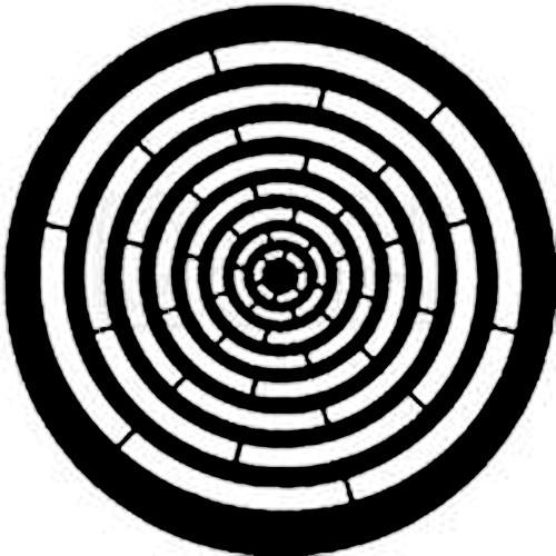 Rosco Standard Steel Gobo #7762 - Concentric Rings