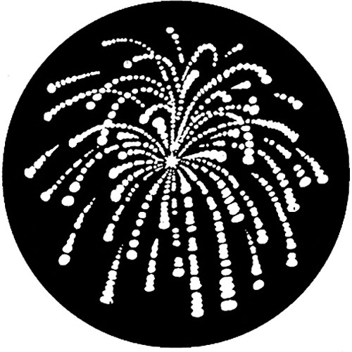 Rosco Steel Gobo #7766 - Fireworks 1 - Size M