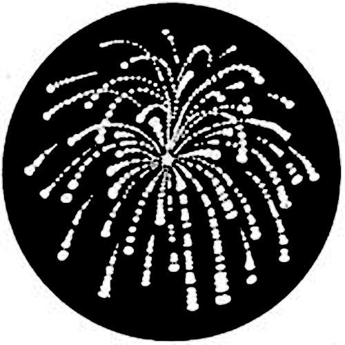 Rosco Standard Steel Gobo #7766 - Fireworks 1 - Size A 100mm