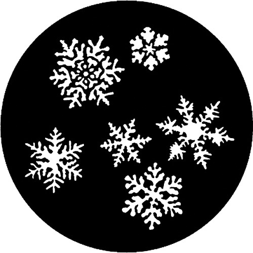 Rosco Steel Gobo #7772 - Snowflakes - Size M