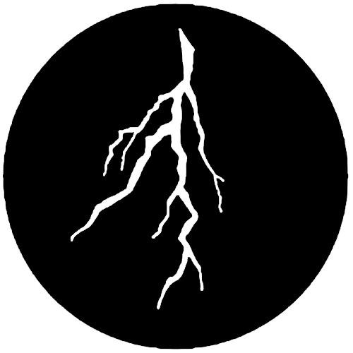 Rosco Steel Gobo #7776 - Lightning Branch - Size A