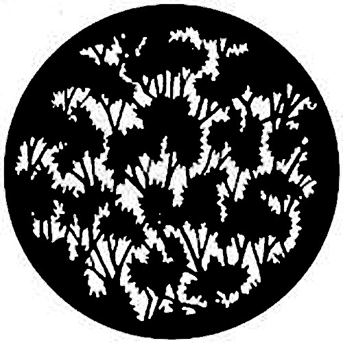 Rosco Steel Gobo #7779 - Foliage (Medium) - Size A