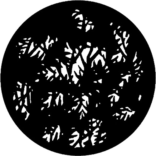 Rosco Standard Steel Gobo #7780 - Dense Leaves - Size E 37.5mm