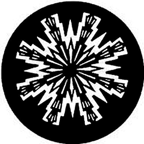 Rosco Steel Gobo #7784 - Aztec Sun