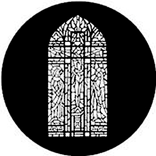 Rosco Standard Steel Gobo #7802 - Stained Glass Composite