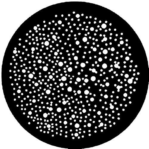 Rosco Standard Steel Gobo #7807 - Dot Breakup (Small)