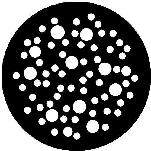 Rosco Standard Steel Gobo #7808 - Dot Breakup (Large)
