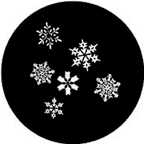 Rosco Steel Gobo #7837 - Snowfall