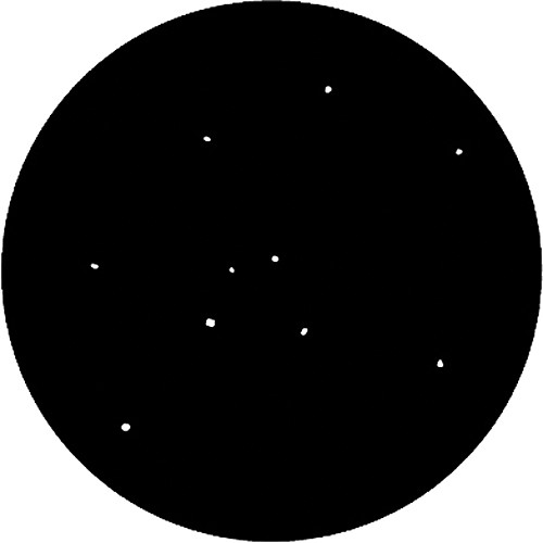 Rosco Standard Steel Gobo #7851 - Realistic Stars - Size A 100mm