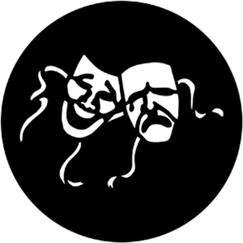 Rosco Standard Steel Gobo #7936 - Comedy & Tragedy