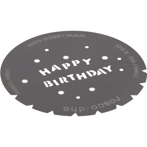 Rosco Standard Steel Gobo #7940 - Happy Birthday