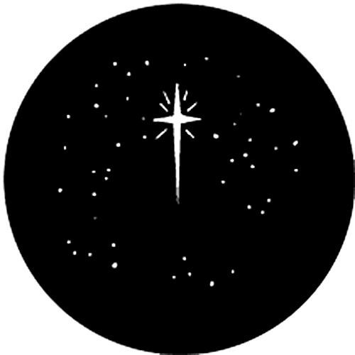 "Rosco Steel Gobo #77941A - Christmas Stars - Size ""A"" (100mm)"