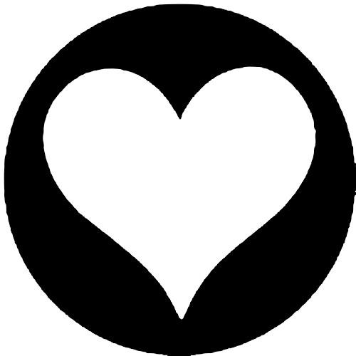 Rosco Standard Steel Gobo #7943 - Heart - Size B 86mm