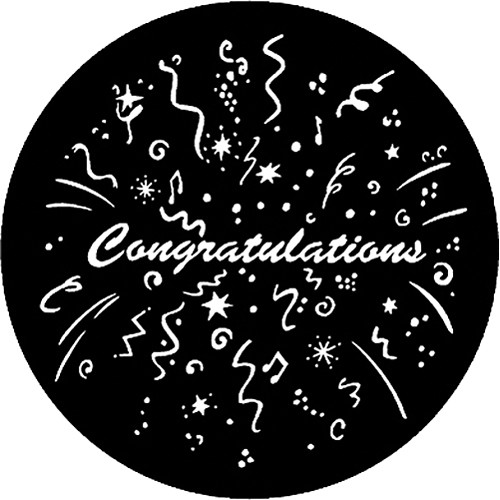 Rosco Steel Gobo #7984 - Congratulations - Size B