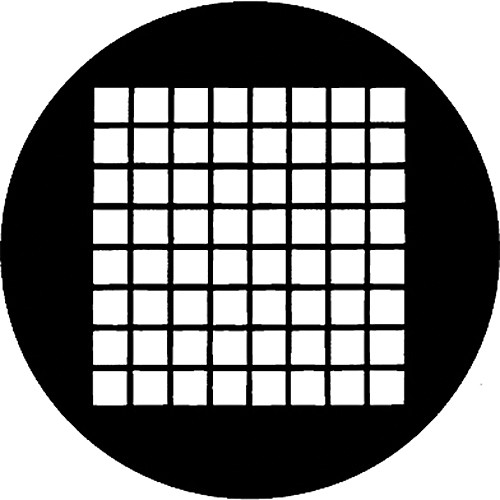 Rosco Standard Steel Gobo #78041E Small Squares (E = Size 37.5mm)