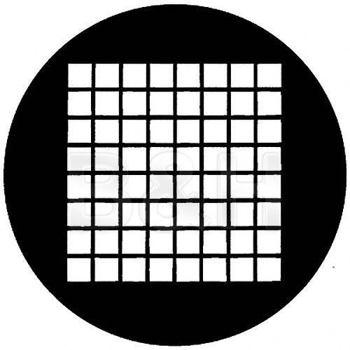 Rosco Standard Steel Gobo #78041B Small Squares (B = Size 86mm)