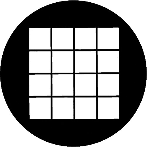 Rosco Standard Steel Gobo #78042A Large Square (A = Size 100mm)