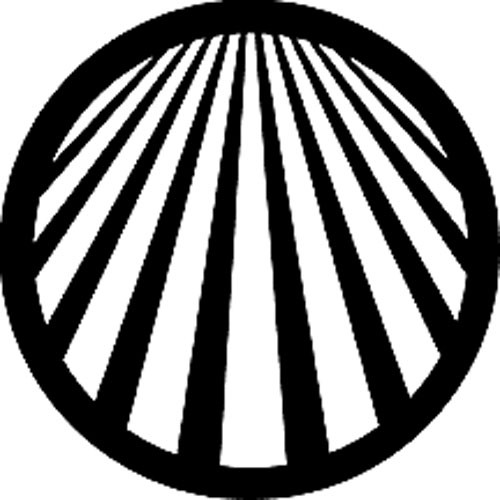 Rosco Standard Steel Gobo #78047A Perspective Lines 2 (A = Size 100mm)