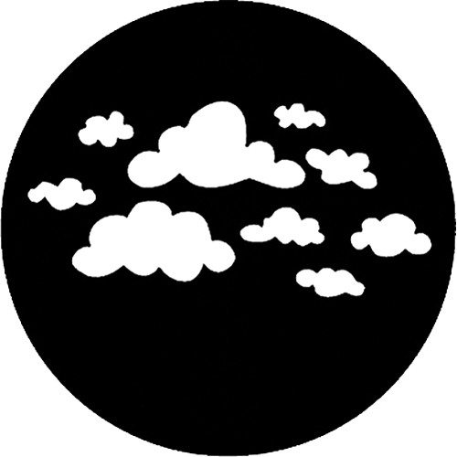Rosco Standard Steel Gobo #78169A Childish Clouds (A = Size 100mm)