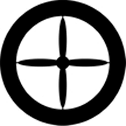 Rosco Standard Steel Gobo #78366B Propeller 4 (B = Size 86mm)