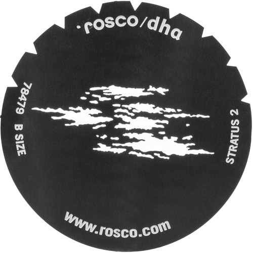 Rosco Standard Steel Gobo #78479B Stratus 2 (B = Size 86mm)
