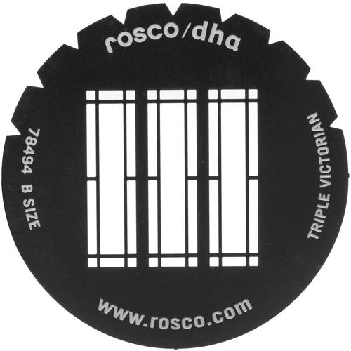 Rosco Standard Steel Gobo #78494B Triple Victorian (B = Size 86mm)
