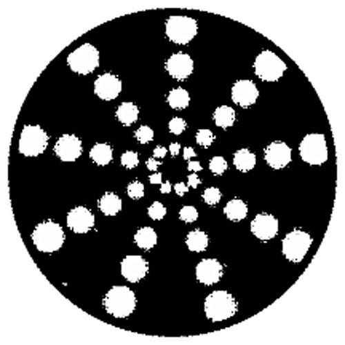 Rosco Steel Gobo #79702 - Radial Circles - Size E 37.5mm