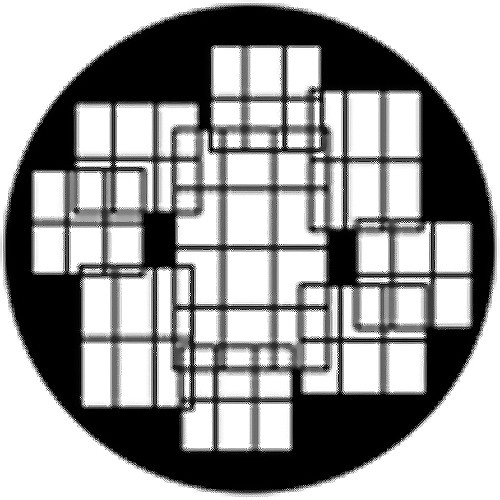 Rosco Steel Gobo #78497 - Window Collage 2 - Size M