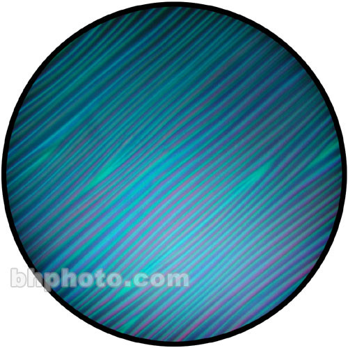 "Rosco Colorwave Effects Color Glass Gobo - #33204 - Cyan Strands (86mm = 3.4"")"