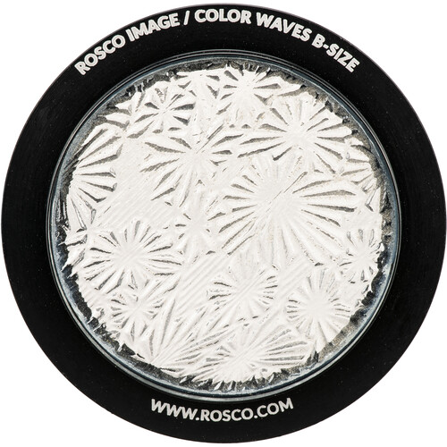 "Rosco Image Effects Black and White Glass Gobo - #33600 - Flower (86mm = 3.4"")"