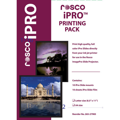 Rosco iPro Printing Pack (Letter Size)