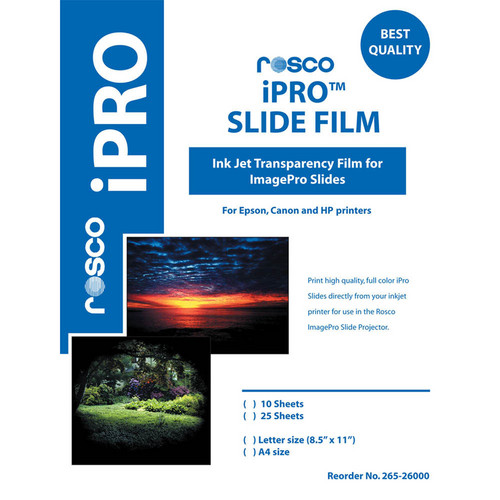 Rosco iPro Slide Film Letter Size (10 Sheet Pack)