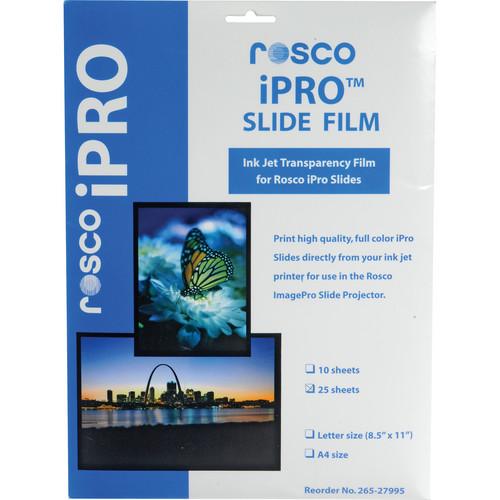 Rosco iPro Slide Film Letter Size (25 Sheet Pack)