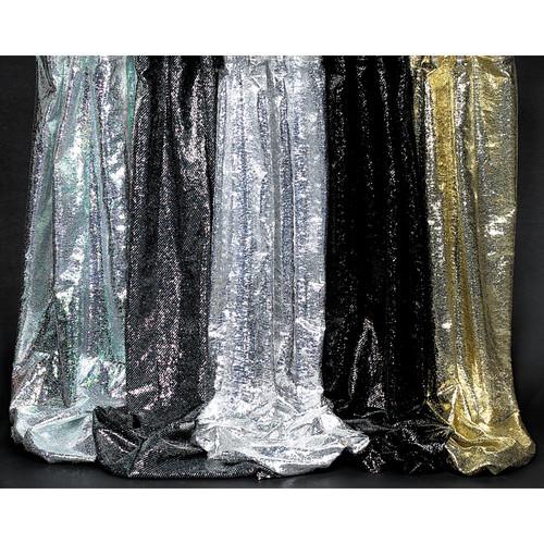 "Rosco Glame - 48""x 30' Roll - Silver/Black"
