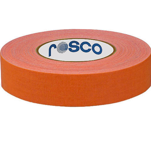 "Rosco Gaffers Tape (0.9"" x 82', Fluorescent Orange)"