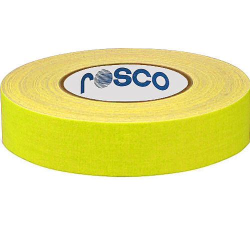 "Rosco Gaffers Tape (0.9"" x 82', Fluorescent Yellow)"
