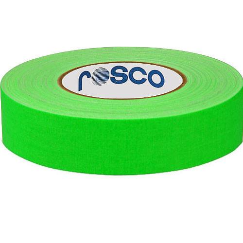 """Rosco Gaffers Tape (0.9"""" x 82', Fluorescent Green)"""