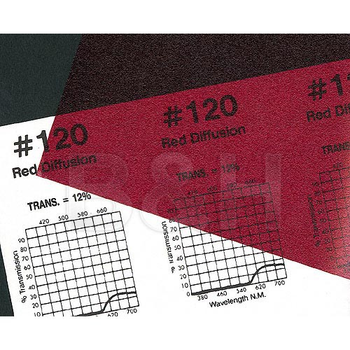 """Rosco Roscolux #120 Filter - Red Diffusion - 20x24"""" Sheet"""