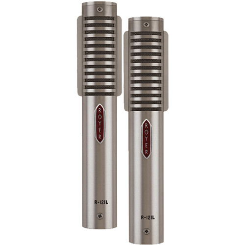 Royer Labs R-121 Live MP Ribbon Microphone (Matched Pair, Nickel)