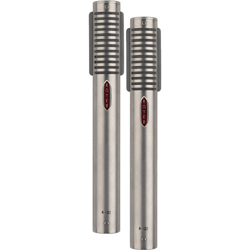 Royer Labs R-122 Active Studio Ribbon Microphone (Matched Pair, Nickel)