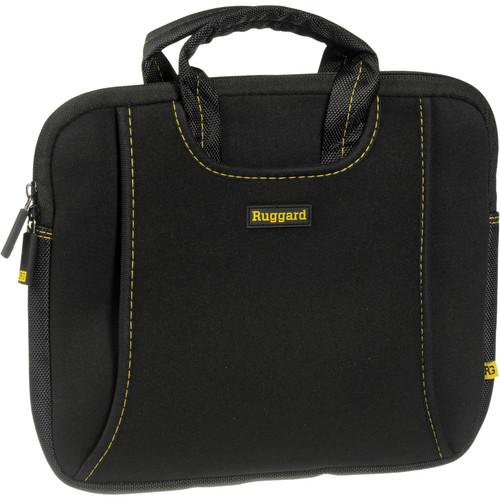 "Ruggard 10"" Ultra Thin Netbook Sleeve With Handles (Black/Yellow)"