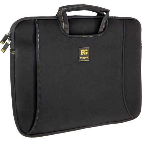 "Ruggard 15"" Ultra Thin Laptop Sleeve with Handles (Black/Yellow)"