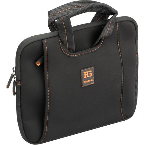 "Ruggard Ultra-Thin Neoprene Sleeve with Handles for 9-11"" Laptops & Tablets (Black/Orange)"