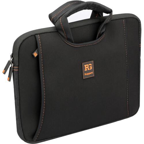"Ruggard 13"" Ultra Thin Netbook Sleeve with Handles (Black/Orange)"