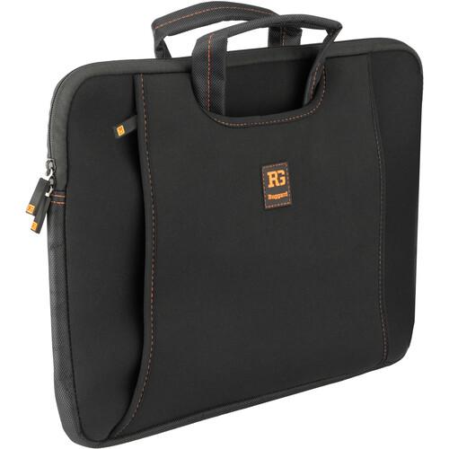 "Ruggard Ultra-Thin Neoprene Sleeve with Handles for 15-16"" Laptops (Black/Orange)"