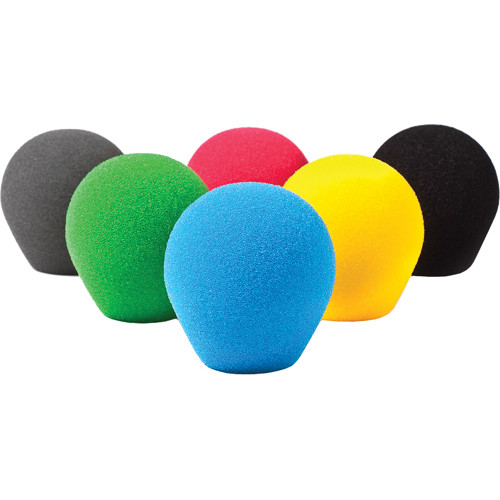 Rycote 18/32 Small Diaphragm Mic Foam [Multi-Color] (10-Pack)
