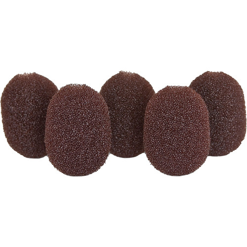 Rycote 105503 Lavalier Foam Windscreen 5-Pack (Brown)