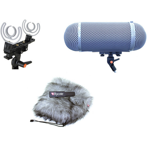 Rycote Stereo Windshield AF Kit for 30mm Microphones
